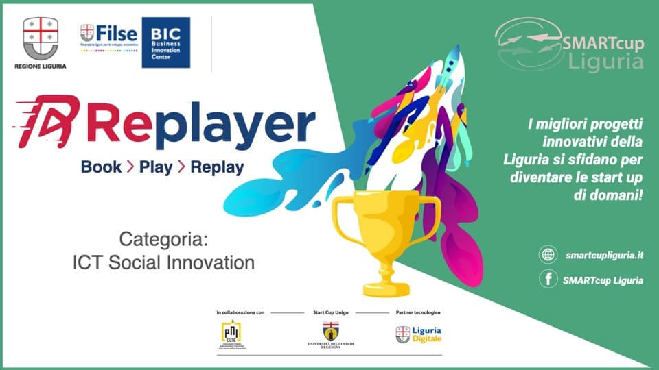 Replayer vincitrice nella categoria ICT di SMARTcup Liguria 2020